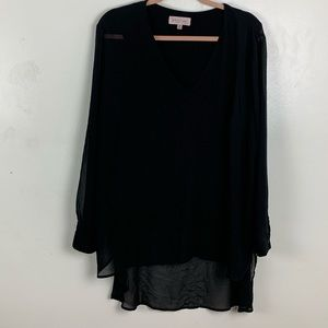Philosophy | Black Long Sleeve Blouse